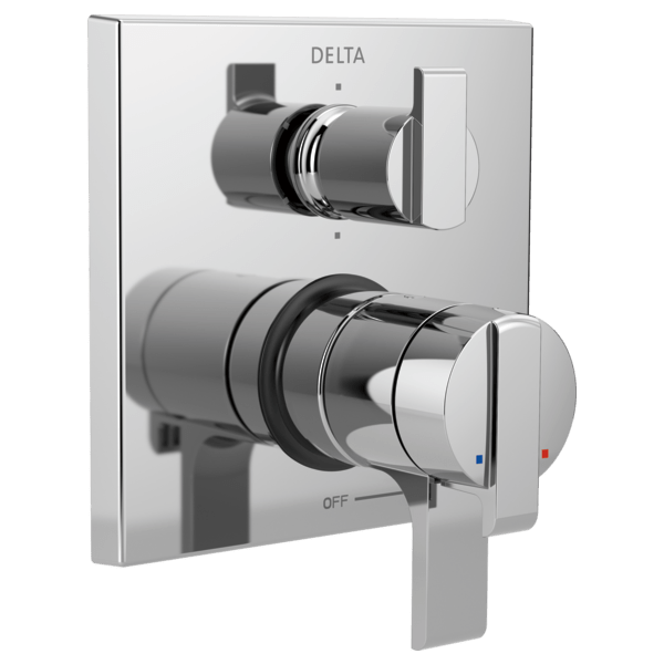 Delta T27967 Angular Modern Monitor 17 Series Valve Trim with 6-Setting Integrated Diverter