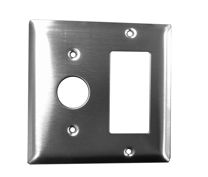 AMBA PRODUCTS AJ-DGP JEEVES DOUBLE GANG WALL PLATE