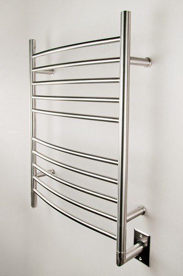 AMBA PRODUCTS RWH-C RADIANT 24 W X 32 H INCH CURVED HARDWIRED HEATED TOWEL RACK