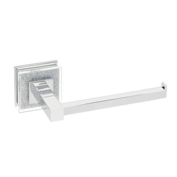 Ruvati Rva5009 Valencia Toilet Paper Holder Luxury Bathroom Accessory In Crystal And Chrome Swarovski