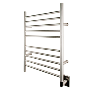 AMBA PRODUCTS RWH-S RADIANT 24 W X 32 H INCH STRAIGHT HARDWIRED HEATED TOWEL RACK