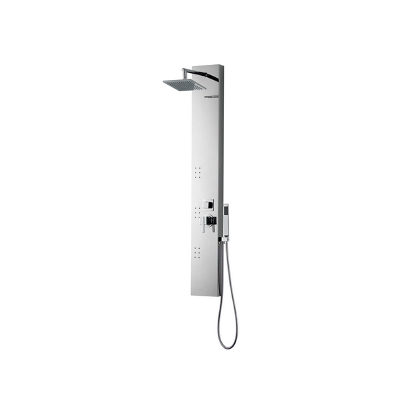 American Imaginations AI-19582 Rectangle Wall Mount CUPC Approved Stainless Steel Shower Panel In Chrome Color