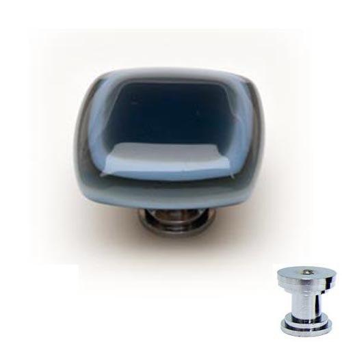 Sietto K-104 Stratum Silver Grey 1-1/4 Inch Square Cabinet Pull