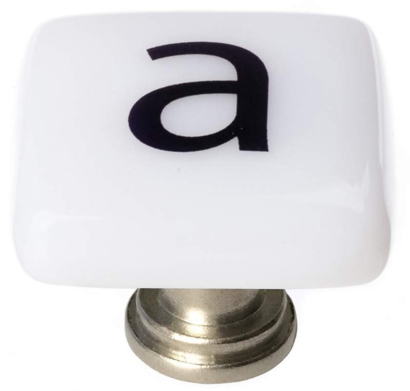 Sietto K-1100 New Vintage Letter A 1-1/4 Inch Square Cabinet Knob