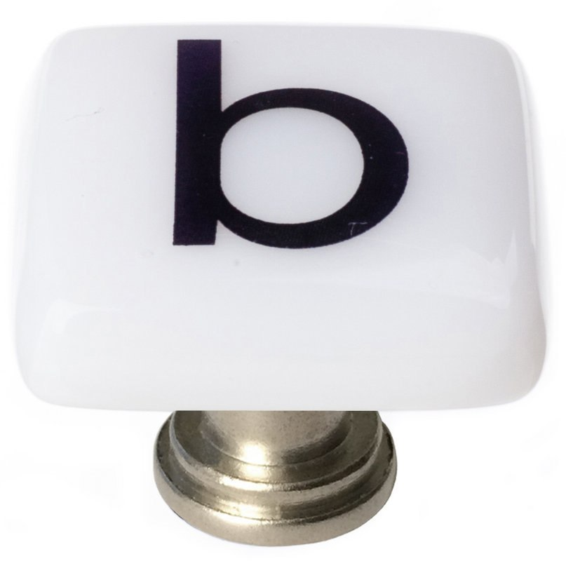 Sietto K-1101 New Vintage Letter B 1-1/4 Inch Square Cabinet Knob