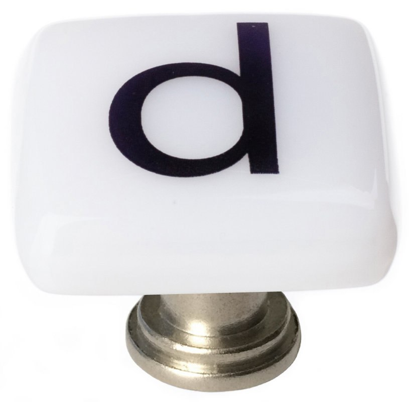 Sietto K-1103 New Vintage Letter D 1-1/4 Inch Square Cabinet Knob