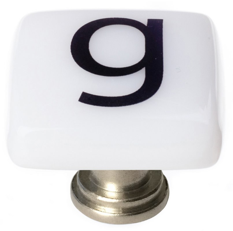 Sietto K-1106 New Vintage Letter G 1-1/4 Inch Square Cabinet Knob