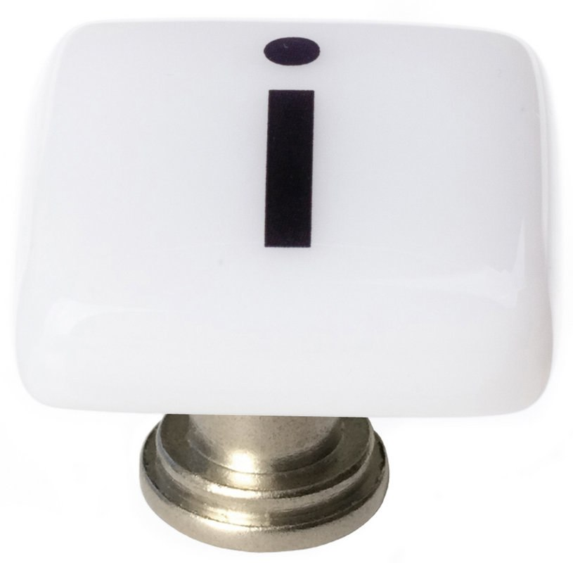 Sietto K-1108 New Vintage Letter I 1-1/4 Inch Square Cabinet Knob