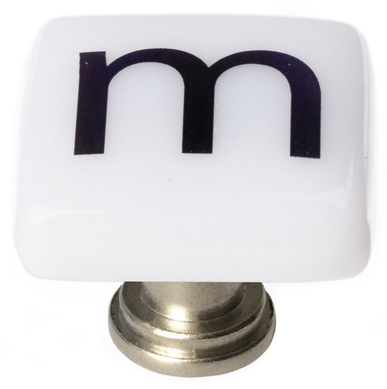 Sietto K-1112 New Vintage Letter M 1-1/4 Inch Square Cabinet Knob