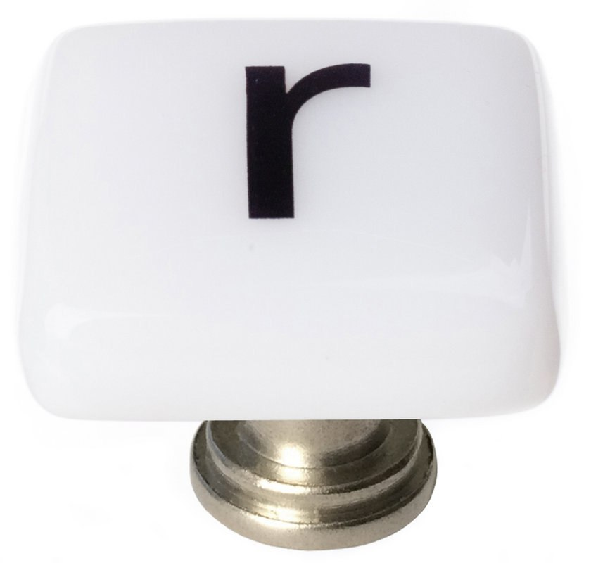 Sietto K-1117 New Vintage Letter R 1-1/4 Inch Square Cabinet Knob