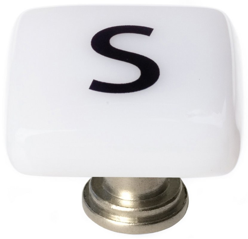 Sietto K-1118 New Vintage Letter S 1-1/4 Inch Square Cabinet Knob