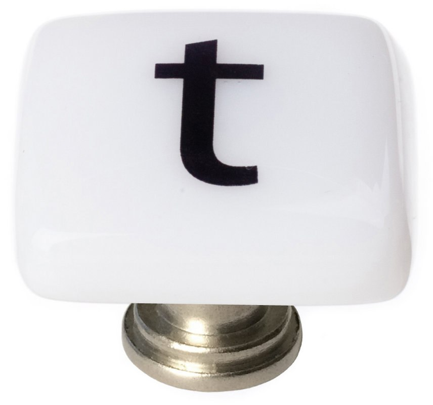 Sietto K-1119 New Vintage Letter T 1-1/4 Inch Square Cabinet Knob