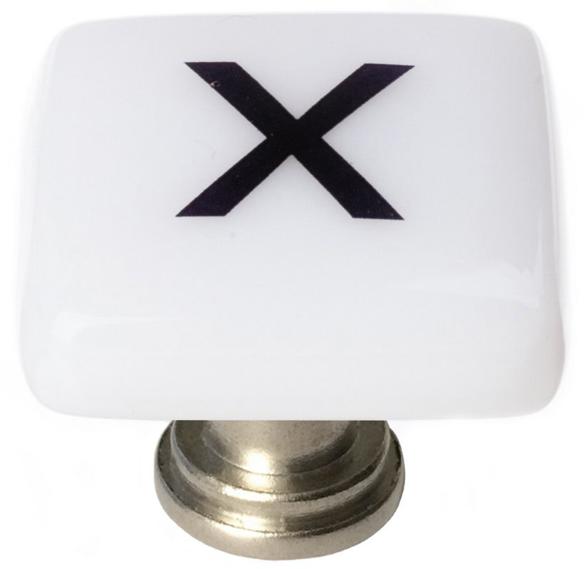 Sietto K-1123 New Vintage Letter X 1-1/4 Inch Square Cabinet Knob
