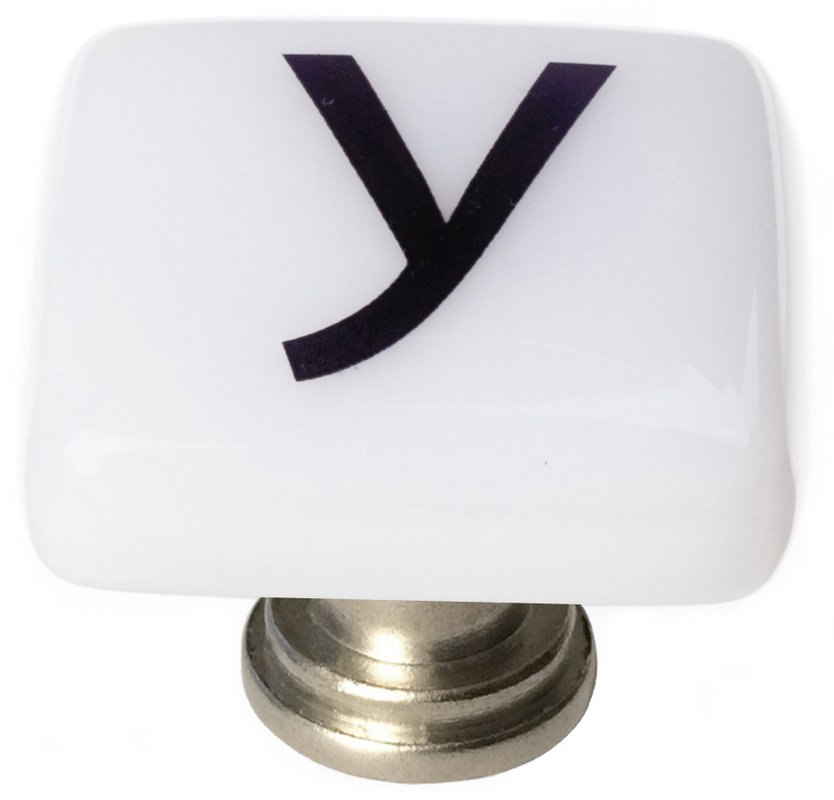 Sietto K-1124 New Vintage Letter Y 1-1/4 Inch Square Cabinet Knob