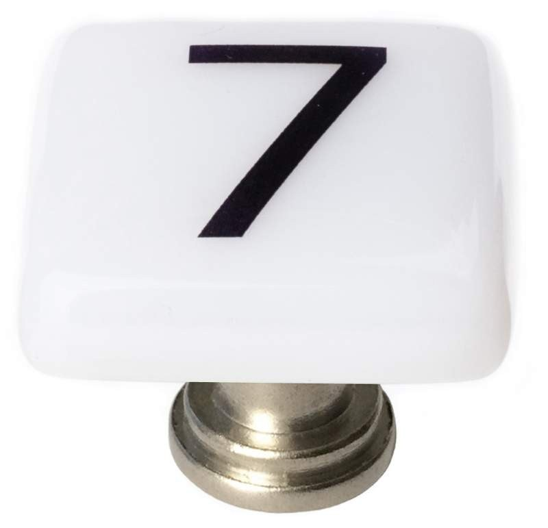 Sietto K-1132 New Vintage Number 7 Square 1-1/4 Inch Cabinet Knob