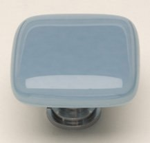 SIETTO K-406 INTRINSIC POWDER BLUE 1-1/4 INCH SQUARE CABINET KNOB