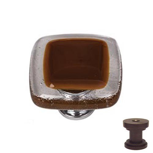 Sietto K-721 Reflective Woodland Brown 1-1/4 Inch Square Cabinet Knob