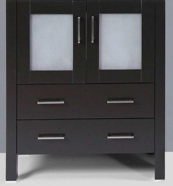 Bosconi A-B-30MC 30 Inch Vanity Base Cabinet in Espresso