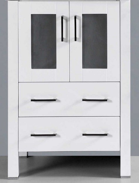 Bosconi A-WH-24MC 24 Inch Vanity Base Cabinet in White