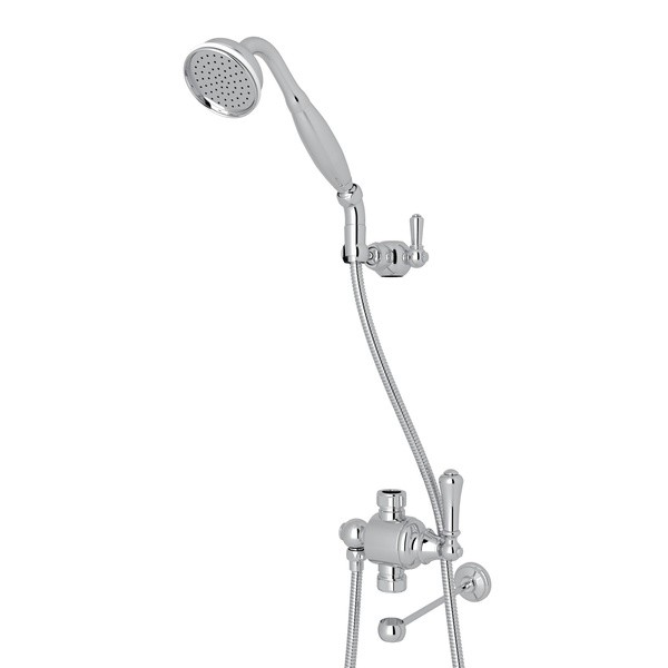 ROHL U.5783N PERRIN & ROWE GEORGIAN ERA RISER DIVERTER KIT WITH HANDSHOWER, HOSE AND PARKING BRACKET