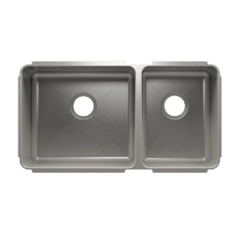 JULIEN 003254 CLASSIC 32 1/2 * 17 1/2 * 10 UNDERMOUNT DOUBLE BOWL STAINLESS STEEL KITCHEN SINK
