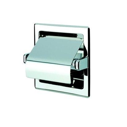 Geesa 119 Standard Hotel Recessed Stainless Steel Toilet Roll Holder