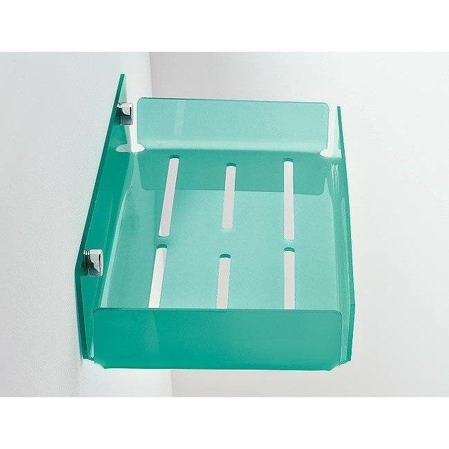 Toscanaluce 1216 Corner Rectangular Plexiglass Shower Soap Holder