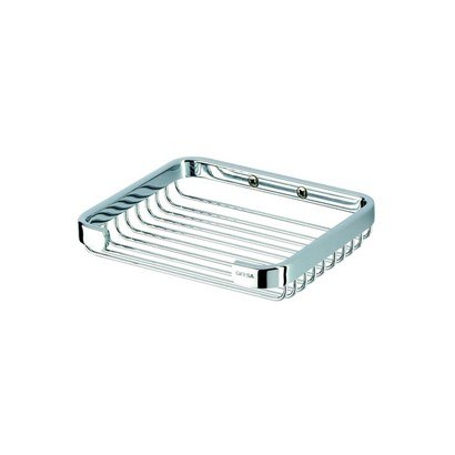 Geesa 142 Basket Collection Chrome Shower or Bath Wire Soap Holder