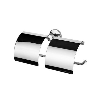 Geesa 148 Standard Hotel Chrome Double Toilet Roll Holder with Cover
