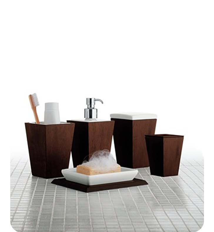 GEDY 1500 KYOTO FAUX LEATHER BATHROOM ACCESSORY SET
