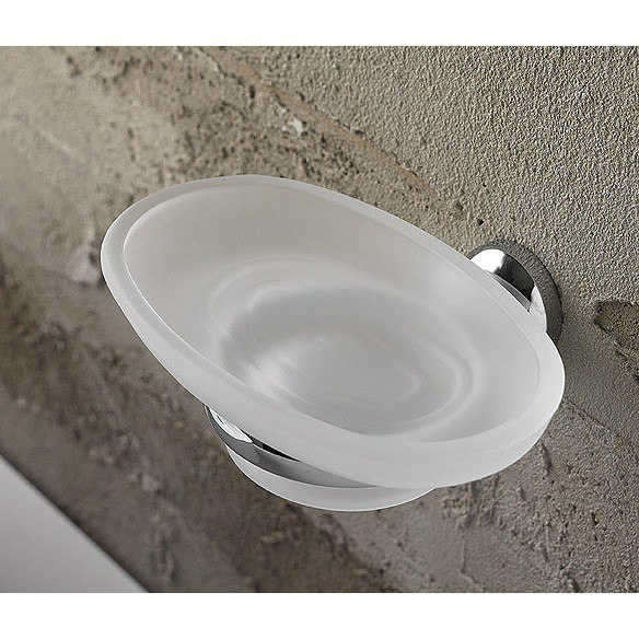 Toscanaluce 1501 Riviera Wall Mounted Oval Frosted Glass Soap Dish