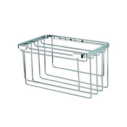 Geesa 174 Basket Collection Chrome Towel Basket For Small Towels