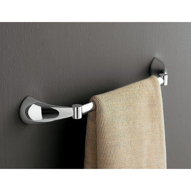 Toscanaluce 5509 Kor 24 Inch Polished Chrome Towel Bar