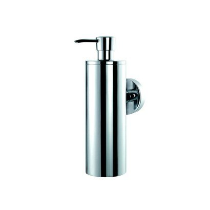 GEESA 6017-02 CIRCLES COLLECTION ROUND WALL MOUNTED CHROME SOAP DISPENSER