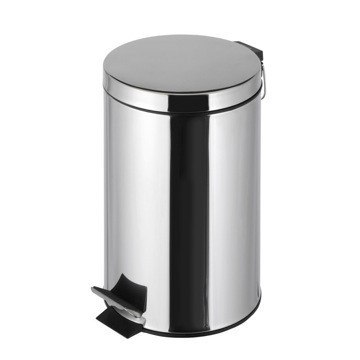 GEESA 636 STANDARD HOTEL FREE STANDING ROUND BATHROOM WASTE BIN WITH PEDAL