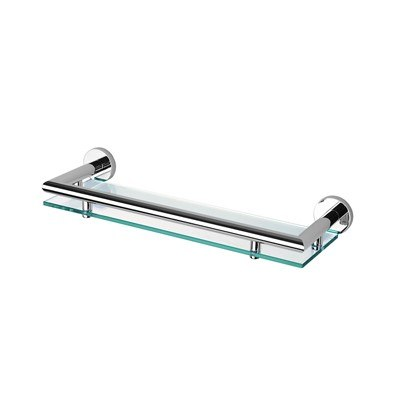 GEESA 6501-02-35 NEMOX COLLECTION 14 INCH CLEAR GLASS BATHROOM SHELF HOLDER