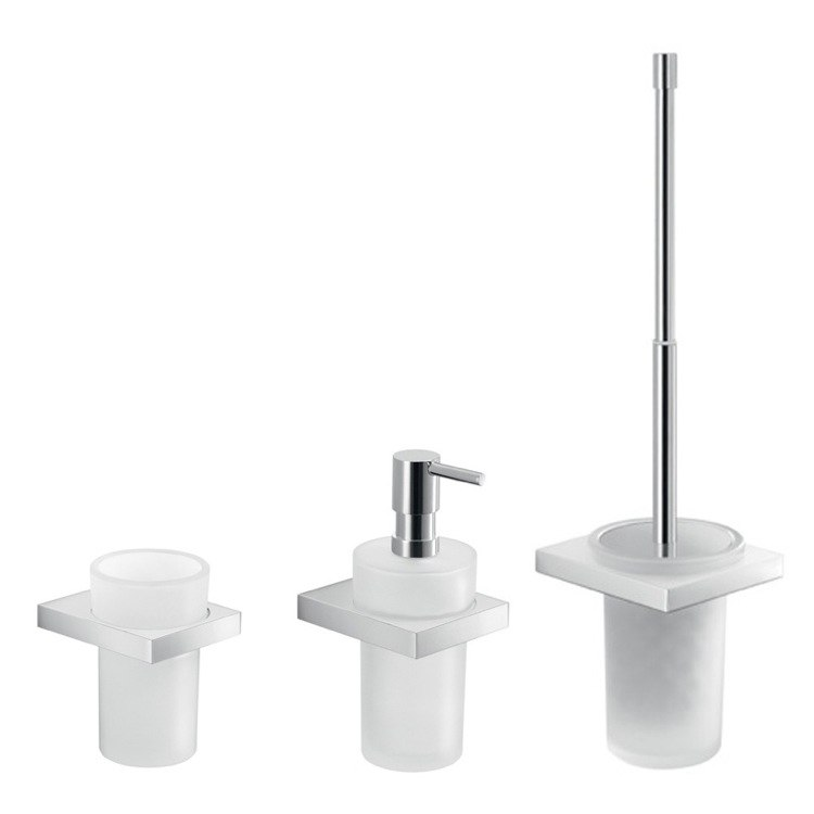 GEDY LZ200 LANZAROTE 3 PIECE WALL MOUNTED CHROME ACCESSORY SET