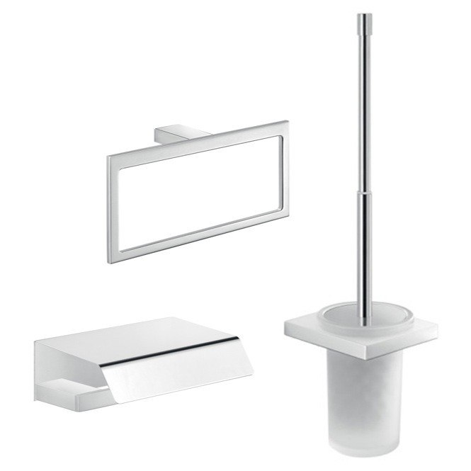 GEDY LZ225 LANZAROTE WALL MOUNTED 3 PIECE BATHROOM ACCESSORY SET