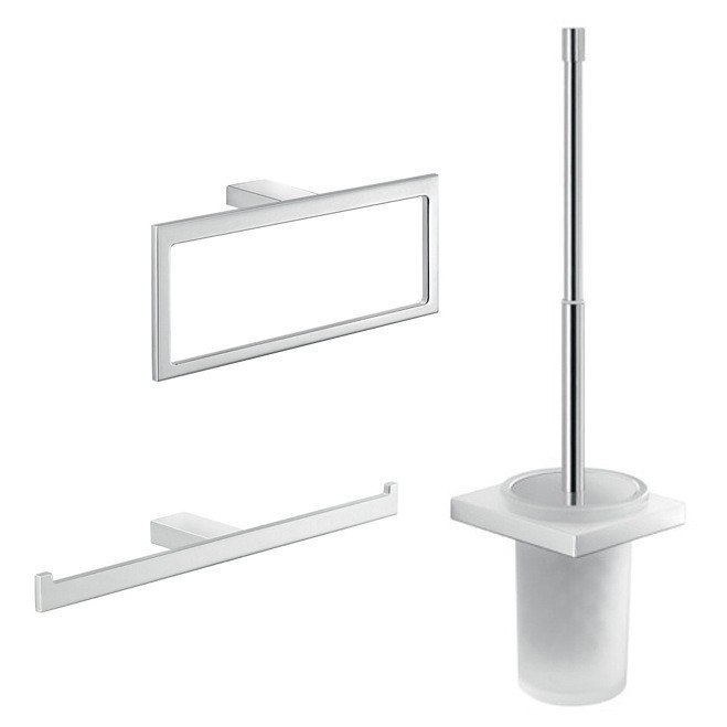 GEDY LZ229 LANZAROTE CHROME 3 PIECE BATHROOM HARDWARE SET