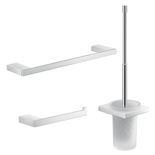 GEDY LZ230 LANZAROTE CHROME WALL MOUNTED BATHROOM HARDWARE SET