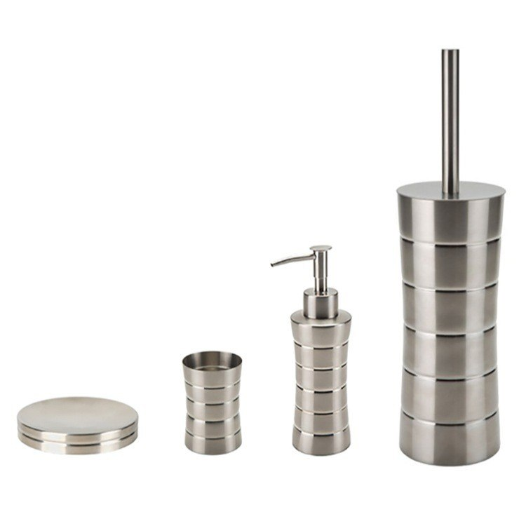 GEDY NAS100 NAOS FREE STANDING BRUSHED NICKEL BATHROOM HARDWARE SET