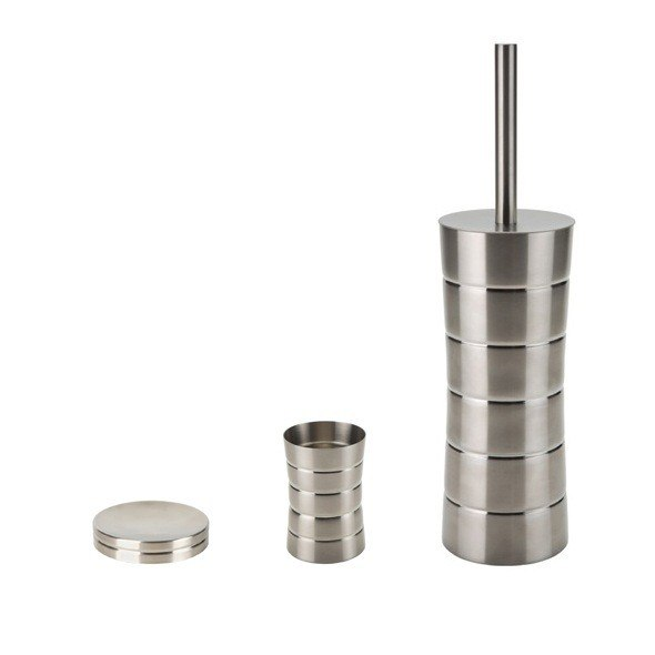 GEDY NAS233 NAOS 3 PIECE FREE STANDING STAINLESS STEEL ACCESSORY SET