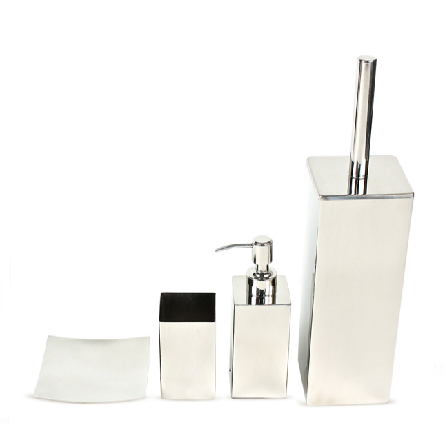 GEDY NE100 NEMESIA NEMESIA POLISHED CHROME BATHROOM ACCESSORY SET