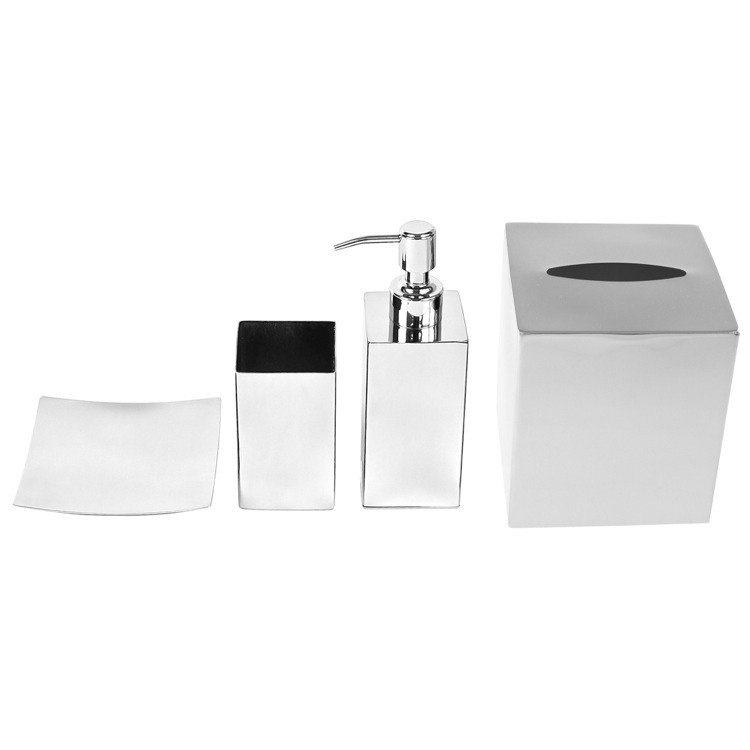 GEDY NE202 NEMESIA STAINLESS STEEL FREE STANDING BATHROOM ACCESSORY SET