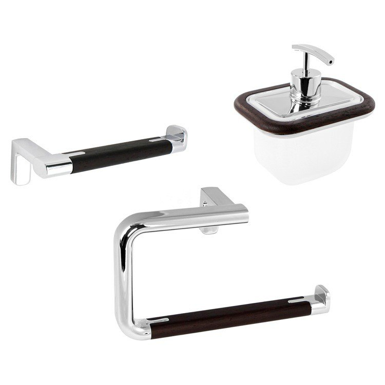 GEDY ODOS1800-19 ODOS WALL MOUNTED CHROME BATHROOM ACCESSORY SET
