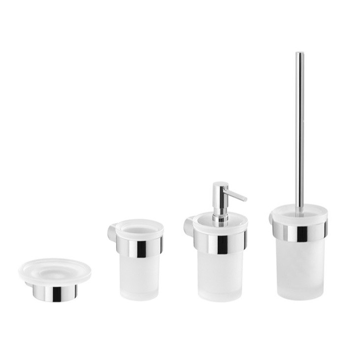 GEDY PI100 PIRENEI 4 PIECE CHROME WALL MOUNTED HARDWARE SET