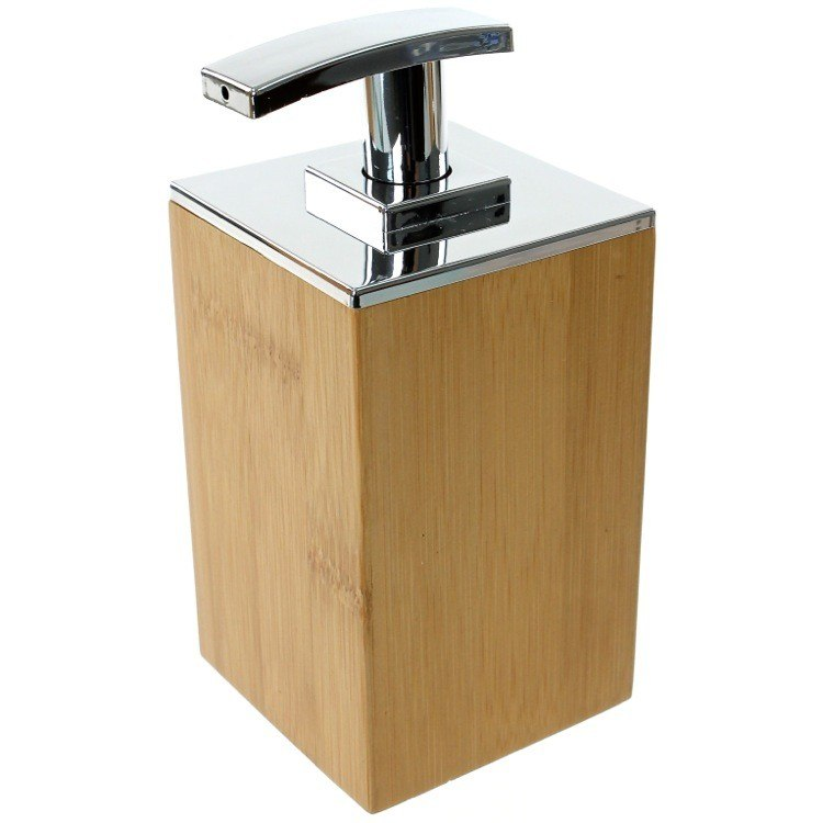 GEDY PO81-35 POTUS WOOD SQUARE SOAP DISPENSER