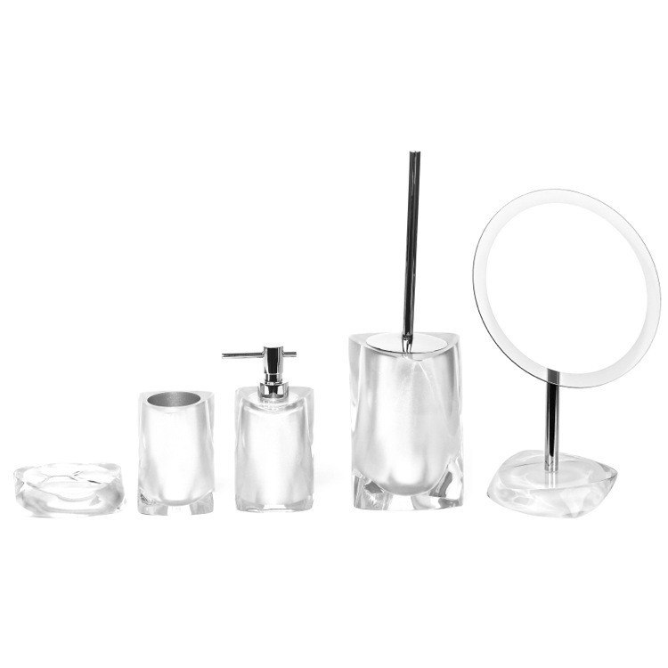 GEDY TW900-02 TWIST 5 PIECE WHITE ACCESSORY SET OF THERMOPLASTIC RESINS
