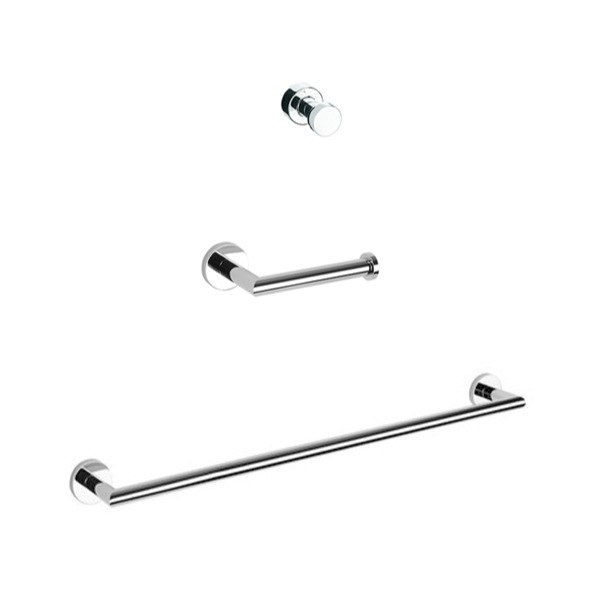 GEESA NMX321-02 NEMOX SIMPLE THREE PIECE BATHROOM HARDWARE SET
