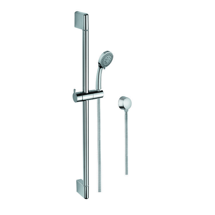 GEDY SUP1102 SUPERINOX CHROME SLIDING RAIL, HAND SHOWER, AND WATER CONNECTION
